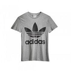 Classical Mens Adidas Jeremy Scott JS Linear Tee Shirt Grey by LeoraUk
