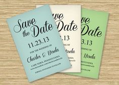 Three free Microsoft word save the date templates. Perfect for printing on colored card stock.
