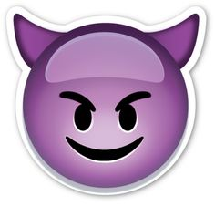 Smiling Face with Horns | EmojiStickers.com