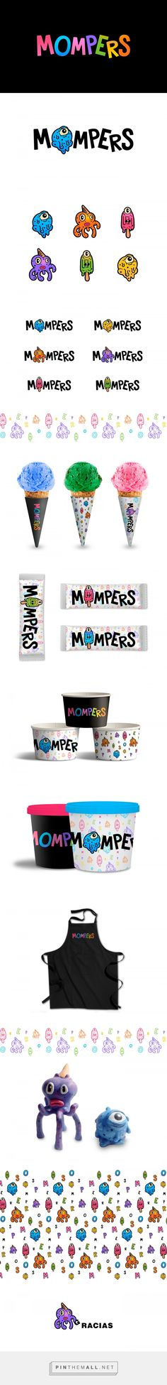 Mompers Children's Ice Cream Shop Branding and Packaging by Jose Pablo Ledesma   Fivestar Branding Agency – Design and Branding Agency & Curated Inspiration Gallery