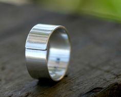 Engraved ring for the man
