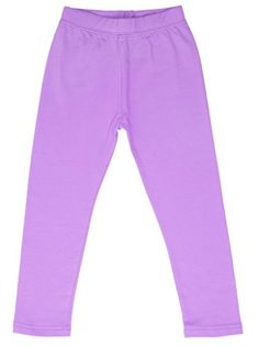 high5 Solid Little Girl's Cotton Legging - Purple - 2