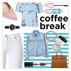C O F F E E ☕️ by myllenamorenaguerra on Polyvore featuring polyvore, fashion, style, MANGO, Barbour, Valentino, Hermès, Movado, Tiffany & Co., Maybelline, MAC Cosmetics and clothing