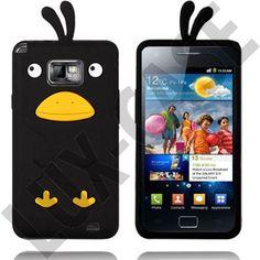 Samsung Galaxy S2 Cover - Happy Bird (Sort)