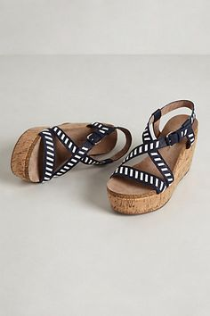 Anthro Cork Wedges