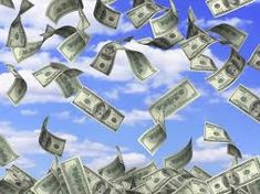 Image result for money falling from sky
