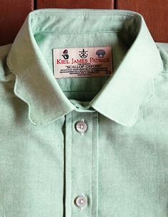 Kiel James Patrick Scallop Collar oxford. Pricey but so cute with the subtle detail.