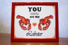BUY 2, GET 1 FREE! You are My Lobster cross stitch pattern-Friends stitch pattern-Friends tv cross stitch pattern, P072