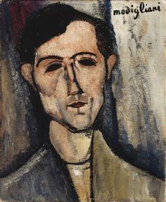 """Amedeo Modigliani - Un uomo, 1916. L'opera è presente alla mostra """"Dagli Impressionisti a Picasso"""" a Genova, Palazzo Ducale, dal 25 settembre 2015 al 10 aprile 2016. #impressionistipicasso"""