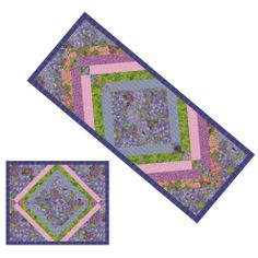 "FREE runner/placemat pattern: ""Garden Medley"" by Heidi Pridemore (from The Quilter Magazine)"