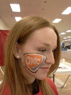 OKC thunder face painting