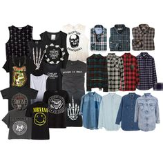 """""""grunge tops and shirts"""" by drownyourfears on Polyvore"""