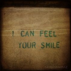 I can feel your smile 12x12 art photograph stencil by shashamane