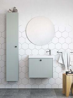 | Badrumsinspiration | Badrumsskåp i serien Compact i färgen mintgrön. För dig med mindre badrum  | Ballingslöv.