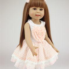 New Full Vinyl American Reborn Babies 18 Inches 45 cm Cute Silicone Reborn Baby Dolls Lifelike Reborn Baby Dolls For Adoption