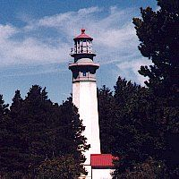 Greys Harbor lighthouse, at south entrance to Grays Harbor in Westport, WA built 1898. It is the tallest light house in WA state.