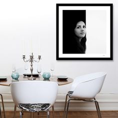 'LUCIA - black and white portrait BY Dominique Vari on Curioos on Art Print Black And White Frames, Black And White Background, Black And White Portraits, White Backgrounds, Generative Art, Bathroom Designs, Wall Art Prints, Pattern Design, Contemporary Art