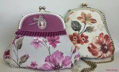 Dos preciosos bolsos vintage con boquilla con patrón incluido. Fácil de hacer!!