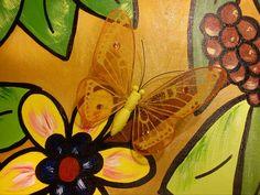 met vlinders op het doek