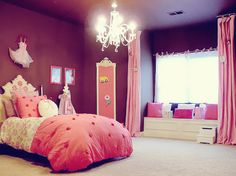Bedrooms come in all styles, shapes, and size.Our bedroom design galleries have hundreds of gorgeous ideas to steal.So let's see pink bedroom and Decoret your child bedroom . #furniture