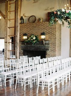 Blush & Navy Spring Wedding at Brandywine Manor House Navy Spring Wedding, Wedding Ceremony, Wedding Day, Barn Loft, House Property, Twinkle Lights, Blue Moon, Ladder Decor, Flooring
