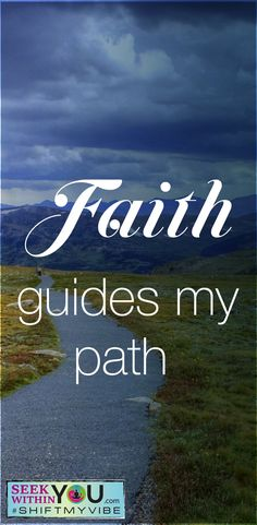 Faith is complete trust or confidence in something or someone. To allow oneself to be guided by faith is to have unequivocal trust in your inner guides that all will be okay.    Remember, you are source energy in a physical body. Being connected to source energy allows you to follow what we call instincts or spiritual guidance. Strengthen that connection to your inner guides/spiritual guides and allow yourself to be guided along the path of life. #spiritualguide #shiftmyvibe #affirmation