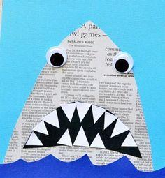 Shark collage craft idea ☀️