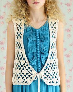 Crochet vest - free pattern
