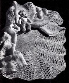 Vintage Knitting Pattern Fan Stitch Shawl by kayscrochetpatterns, $3.00
