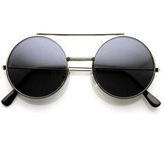35b258294355f zeroUV Steampunk Vintage Inspired Retro Round Circle Flip Up Sunglasses 8795