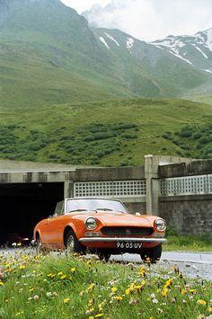 1972 Fiat Spider 1600 road to Pas Du Grand St Bernard, Switzerland (July 2001)