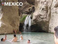 #TBT Volunteers taking a break and swimming in a small lagoon with a waterfall in Mexico in 2005.