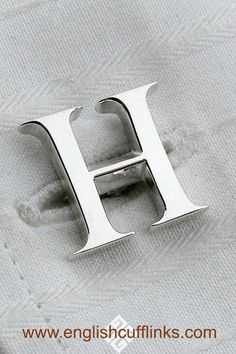 These beautiful silver initial cufflinks are handmade in our own workshops. An ideal gift for your groomsmen at your wedding, they are based on the classic Times Roman font giving them a simple understated elegance. Wedding Ring For Her, Wedding Pins, Gifts For Wedding Party, Party Gifts, Our Wedding, Gifts For Her, Great Gifts, Father Of The Bride, Groomsmen