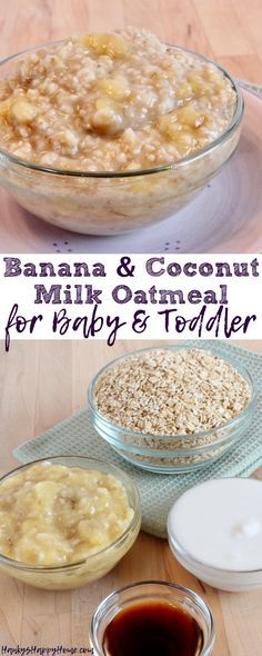 This Banana & Coconut Milk Oatmeal combines wholesome oatmeal, sweet bananas, and creamy coconut milk to make a simply delicious breakfast!