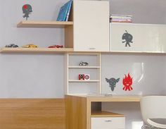 Friendly Monsters wall decal by Studio Luka, model no. 247