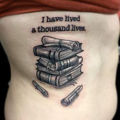 """I have lived a thousand lives..."" And you??? Tattoo by Tyler Renee Sheppard."