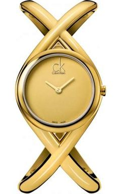 Calvin Klein Enlace Ladies Gold Steel Case Champagne Dial Colour K2L23509 | First Class Watches
