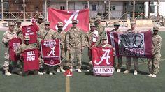University of Alabama Shout Out from Khandahar Airfield, Khandahar, Afghanstan, Regional Command South,102d MPAD Mississippi National Guard, August 30, 2013