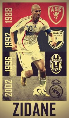 21 Trendy Ideas for sport poster soccer zinedine zidane Football 2018, Football Icon, Football Is Life, World Football, Soccer World, Sport Football, Football Design, Football Art, Zinedine Zidane