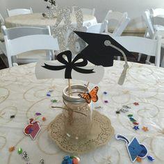 Centro de mesa graduación pieza central de oro de la