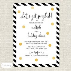 confetti cheer cocktail party invite For Christmas and or New