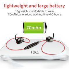 Sport vezeték nélküli fülhallgatók Kihangosító Bluetooth fülhallgató Sport  basszus fejhallgató mikrofonnal PC mobiltelefon iPhone xiaomi Huawei a192b9c43f