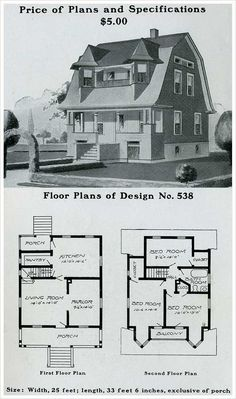 Radford American Homes: 100 Houses Illustrated provides ample illustrations of the types of homes coveted by Americans at the turn of the century. Sims 4 House Plans, Duplex House Plans, Beach House Plans, Bungalow House Plans, House Floor Plans, Dutch Colonial Homes, Colonial Cottage, Colonial House Plans, Southern House Plans