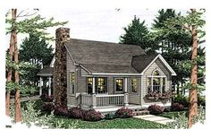 Cottage floor plans selected nearly ready-made house plans by leading architects and house plan designers. Cottage house plans can be customized for you. Cottage Style House Plans, Beach Cottage Style, Cottage Style Homes, Cottage Design, Small House Plans, House Floor Plans, House Design, Small Cottage Plans, Small Cottages
