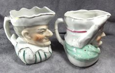 Early Punch and Judy Toby Jugs or Pitchers