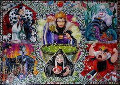1000 Ravensburger Wicked women Disney  #Puzzle