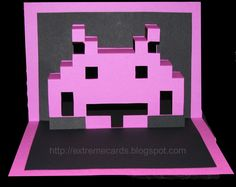 from extreme cards and papercrafting. the blog has a tutorial on this.  http://extremecards.blogspot.com/2010/08/space-invader-pop-up-tutorial.html