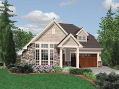 Traditional House Plan with 1761 Square Feet and 3 Bedrooms from Dream Home Source | House Plan Code DHSW65885