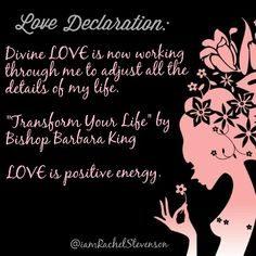 """Divine LOVE is now working through me to adjust all the details of my life. """"Transform Your Life"""" by Bishop Barbara King  LOVE is positive energy.  #forevergrateful #namaste #igers #truelove #awakening #radiatelove #instainspiration #divinelove #tflers #instagood #tagsforlikes #likealways #comment #mindset #inspiration #innerbeauty #spirituality #liveyourtruth"""