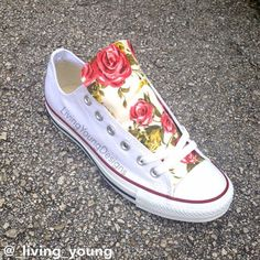 Hey, I found this really awesome Etsy listing at https://www.etsy.com/listing/204445627/roses-floral-converse-shoes-custom